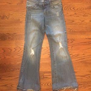 Kut from the Kloth ElenaSuper flare faded jeans